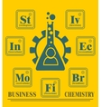 Business model metaphor vector image