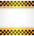 Cab background square vector image vector image