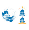 capitol building usa icon design template vector image