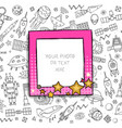 cartoon template frame vector image