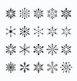 christmas snowflake set cute style vector image vector image