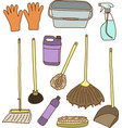 Cleaning items vector image