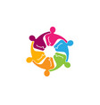 colorful abstract people logo vector image