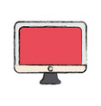 computer monitor icon vector image vector image