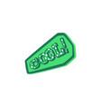 cool - inscription on green badge pop art cartoon vector image