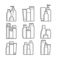 Cosmetic Flat icons vector image