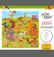 count the dogs game vector image vector image