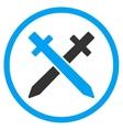 Crossing Swords Icon vector image vector image