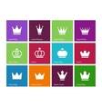 Crown icons on color background vector image