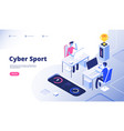 cyber sport gamer tournament stream esports vector image