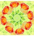 decorative ornate poppy flowers circle vector image vector image