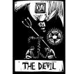 Devil tarot vector image vector image