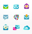 E-mail logo icon set based on envelope symbol vector image