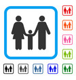 family child framed icon vector image vector image