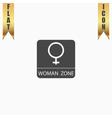 Female symbol woman vector image vector image