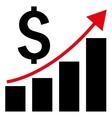 Financial Report Flat Icon vector image vector image