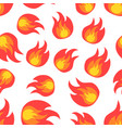 flame fire seamless pattern background icon vector image