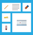 flat icon tool set of date block supplies vector image vector image