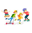 group of caucasian white children playing together vector image