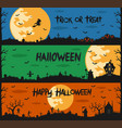 happy halloween set of flat designed elements vector image