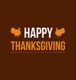 happy thanksgiving greeting card collection vector image vector image