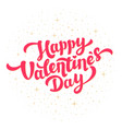 happy valentines day greeting card design bright vector image