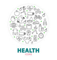 health round concept vector image