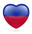 Heart icon of Haiti vector image vector image
