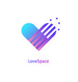 heart symbol love space icon logotype vector image vector image