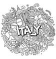 italy hand drawn cartoon doodles vector image