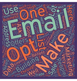 JP build an opt in list text background wordcloud vector image vector image