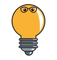 lightbulb with glasses icon vector image