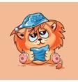 Lion cub drowsy vector image vector image