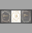 luxury invitation template with gold frame vector image vector image