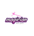 magician word text logo icon design concept idea vector image vector image