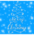 merry christmas blue vector image