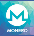 monero xmr blockchain cripto currency logo vector image