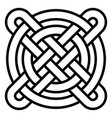 national celtic pattern intertwined circles cross vector image vector image