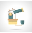 Observatory telescope flat design icon vector image