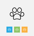 of zoology symbol on paw vector image vector image