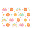 pattern for kids vector image vector image