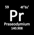 periodic table element praseodymium icon vector image vector image