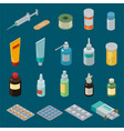 pharmacy medicine drugs or pills in vector image