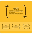 Quote on an orange background vector image vector image