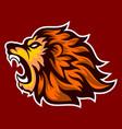 roaring lion logo esport vector image