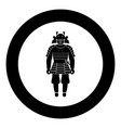 samurai japan warrior icon in round black color vector image vector image