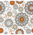 seamless abstract doodle floral pattern vector image vector image