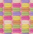 Seamless cute retro colored macarons pattern vector image