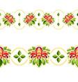 seamless decorative flowers ornament vector image