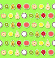 Seamless pattern with fruit icons